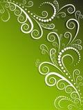 blanc fleuri vert de fond Image libre de droits