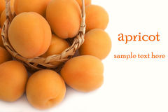 blanc frais de fond d'abricots Image libre de droits