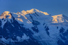 blanc France mont Fotografia Stock