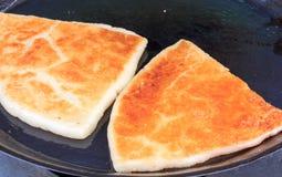 Blanc frit de pâtisserie de la pâte Photographie stock libre de droits
