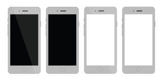 Blanc futé de téléphone Smartphone avec l'affichage neutre Photos libres de droits