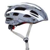 Blanc gris de casque de bicyclette isolé photos stock