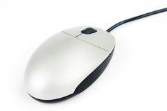 blanc gris de souris d'ordinateur Photographie stock