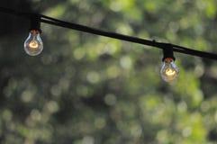 blanc léger d'isolement par ampoules Image libre de droits