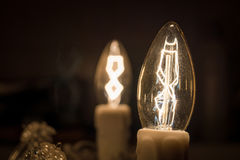blanc léger d'isolement par ampoules Images stock