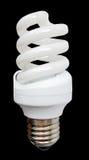 blanc léger en verre d'économie de puissance faible d'énergie d'ampoule Photo stock