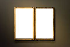 Blanc minimal de conception d'Art Museum Frame Wall Ornate d'isolement Photo libre de droits