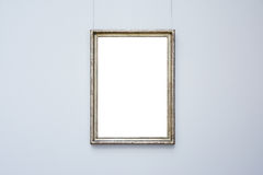 Blanc minimal fleuri de conception d'Art Museum Frame Blue Wall d'isolement Image stock