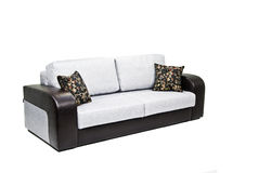 blanc moderne d'isolement de sofa Photos libres de droits
