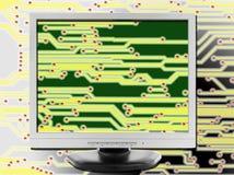 blanc moderne de technologie d'ordinateur portatif d'isolement par ordinateur de fond Images stock