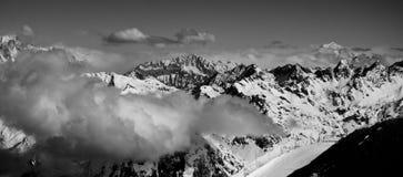 blanc mont πανόραμα Στοκ Εικόνες