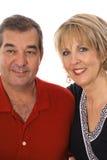 blanc moyen heureux de couples d'âge Photographie stock