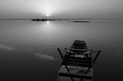 blanc noir d'horizontal Photos libres de droits