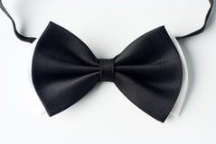 blanc noir de cravate Photographie stock