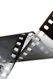 blanc noir de film Photographie stock libre de droits