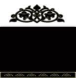 blanc noir de fin de fond Photos libres de droits