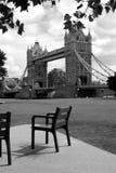 blanc noir de Londres de passerelle Images libres de droits