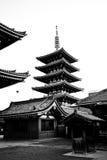 blanc noir de temple de sensoji du Japon Photographie stock libre de droits