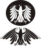 blanc noir de vecteur d'aigle Photo libre de droits