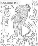Blanc noir, fantastique, drôle, monstre de bande dessinée Illustration de Vecteur