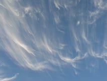 Blanc nuageux Images stock