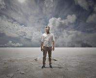 blanc occidental de l'Egypte Sahara de désert Image stock
