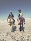 blanc occidental de l'Egypte Sahara de désert Image libre de droits