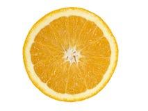 blanc orange d'isolement par fond Photos stock