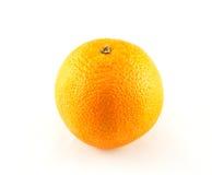 blanc orange d'isolement par fond Photographie stock