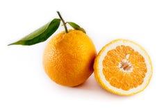 blanc orange d'isolement par fond Photographie stock libre de droits