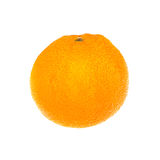 blanc orange d'isolement par fond fruit Image libre de droits