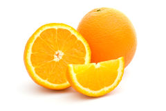blanc orange de fruits frais de fond Images stock