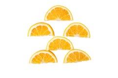 blanc orange de vecteur de parts d'illustration d'agrumes de fond Photo stock