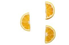 blanc orange de vecteur de parts d'illustration d'agrumes de fond Photo libre de droits