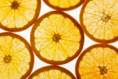 blanc orange de vecteur de parts d'illustration d'agrumes de fond Image libre de droits