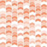 Blanc orange rose de corail de fond sans couture tiré par la main de vecteur de Chevron Modèle abstrait de flèches Répétition du  illustration libre de droits