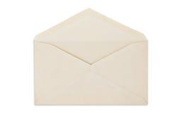 blanc ouvert d'isolement par enveloppe de balnk images libres de droits