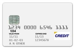 Blanc par la carte de crédit Photos libres de droits