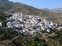 blanc pittoresque de ville de l'Espagne de panorama de l'Andalousie Photographie stock
