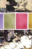 Blanc Plakate grunge Wand Stockfotos