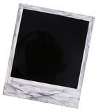 Blanc polaroïd de film Image stock