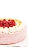 blanc rasbperry de gâteau Photo libre de droits