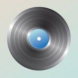blanc record de vinyle d'isolement par fond Images libres de droits