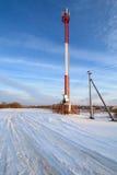 Blanc rougeâtre d'antenne cellulaire image stock