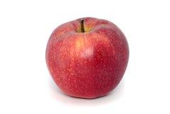blanc rouge d'isolement par pomme Photographie stock libre de droits