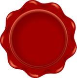 Blanc rouge de cire illustration de vecteur