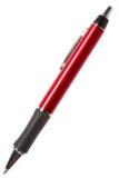 blanc rouge de crayon lecteur d'isolement par fond Image stock