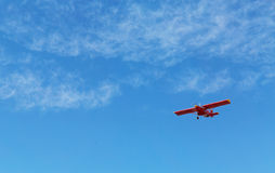 blanc rouge de l'avion 3d Photographie stock libre de droits