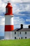 blanc rouge de phare Photographie stock