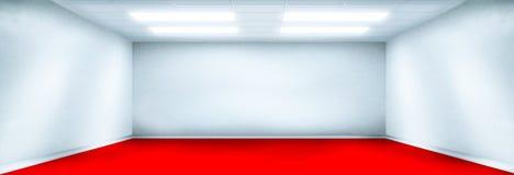 blanc rouge de pièce d'étage Image libre de droits